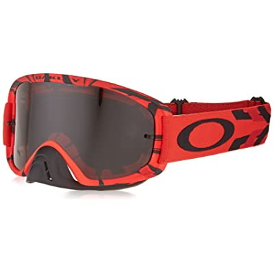 Oakley O2 MX Men\'s Goggles (Intimidator Blood Red Frame/Dark Gray Lens): Automotive [5Bkhe0407601]