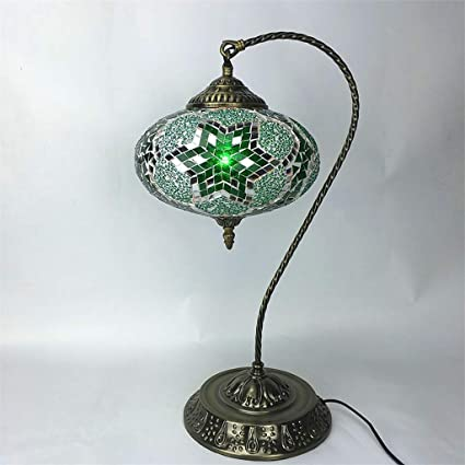 SMBYLL Lámpara de Mesa Artesanal Lámpara de Mosaico Turco ...
