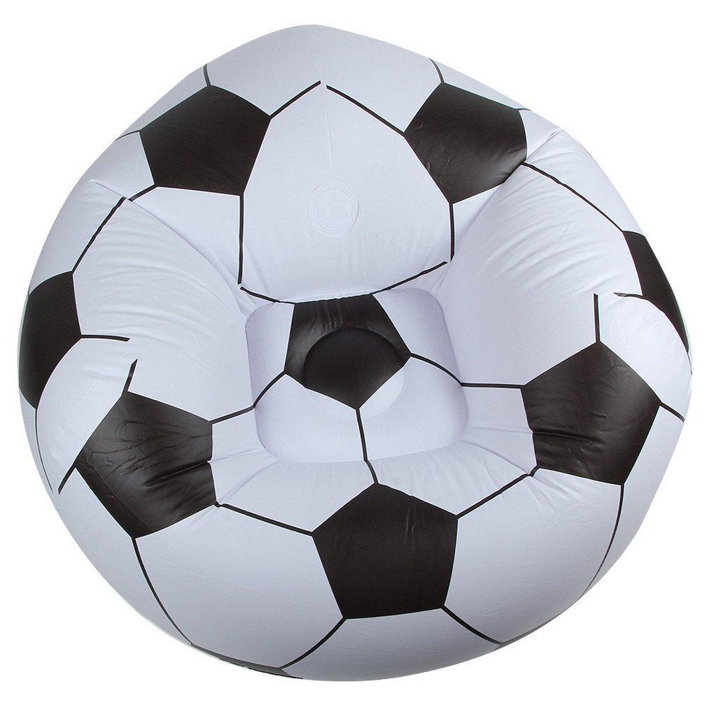 EOZY Aufblasbar Fußball Sessel Sitz Ball Poolsessel Coach Sitzgelegenheit