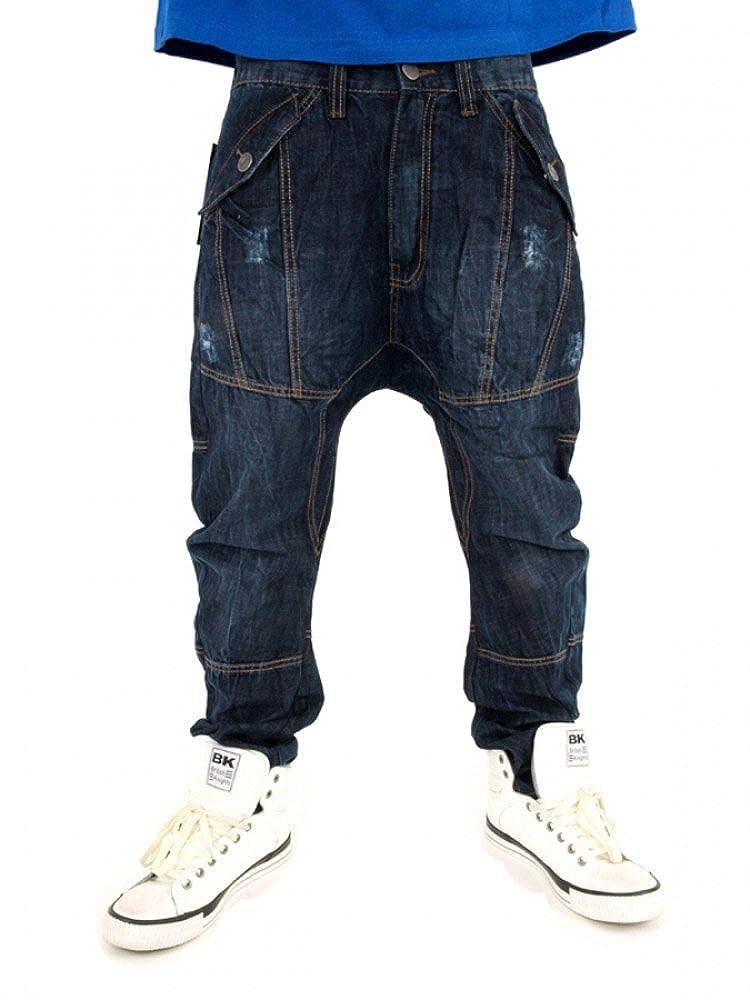 TALLA W32. Streetwear Premium Extra Drop Entrepierna Pantalones Vaqueros de Zanahoria