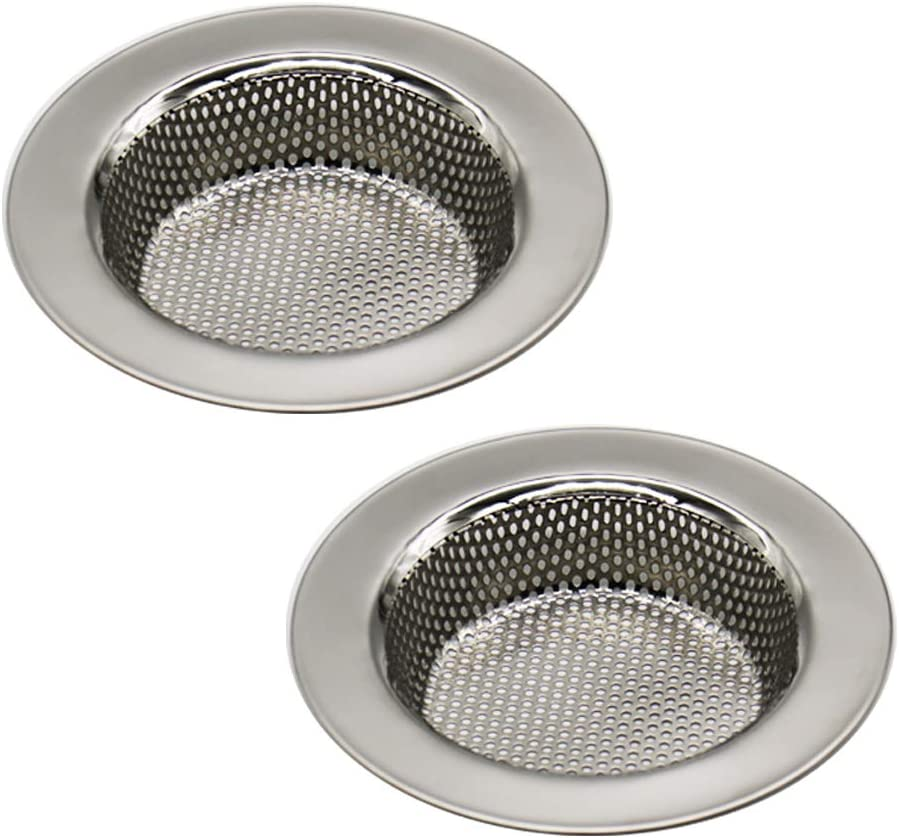 Seatery 2PCS Kitchen Sink Strainers, Sink Drain Filter, Sink Basket Strainer, 4.5 Inch Stainless Steel Sink Drain Strainer, Food Scraps Catcher for Kitchen