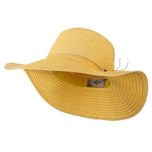 fcae8ba067b27 Coconut Band Floppy Hat - Yellow OSFM at Amazon Women s Clothing ...