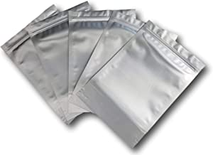 7.5 Mil Mylar Bags/Pouches - Multiple Sizes Genuine Odor-Proof Aluminum Foil-Lined Bag for Long Term Food, Grain, Dried Flowers, Baking, Herb, Storage Container (50) (8