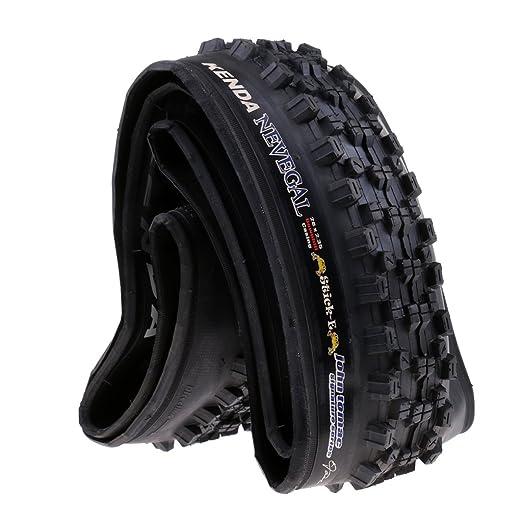 FLAMEER Neumático Plegable De Caucho 26 X 2.35 60TPI, 20 PSI Ciclo De La Bicicleta De Carretera: Amazon.es: Deportes y aire libre