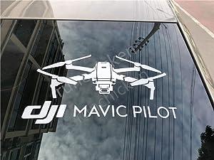 Mavic 2 Shape Decal Window Cling Waterproof Vinyl Car Decor Sticker for DJI Mavic Fans by Runchicken (7.9)