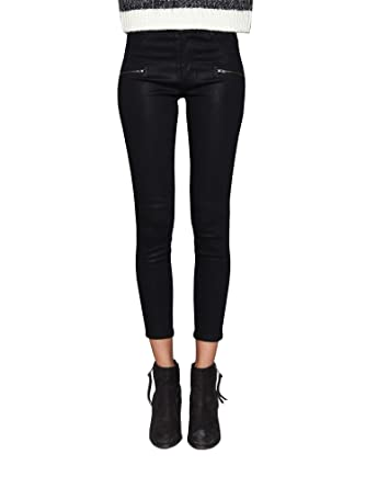 95c898d5fac10e James Jeans Women's Jeans Mid Rise Skinny Ankle Front Zip Twiggy Jeans in  Black Coated Size