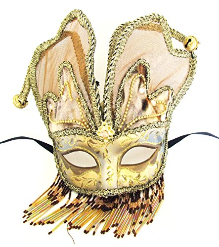 [Venetian Mask Masquerade Angel Wings Brown Mardi Gras Halloween Costume] (Fat Lady Halloween Costumes)
