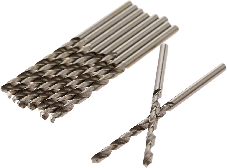 Stainless Steel Micro HSS Twist Drill Bit Set Twist Drill Bit Set 1mm 3//64 Straight Shank HSS-4341 for Hard Metal Cast Iron 10 pcs