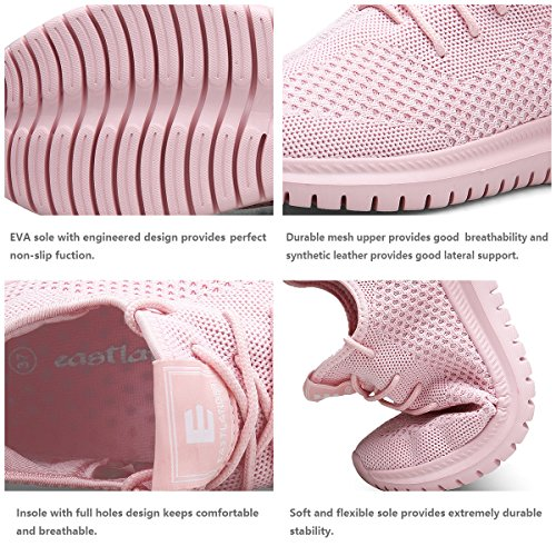 EAST LANDER Men's & Women's Sneakers Lightweight Athletic Shoes Walking Casual Sneakers Lace-up Running Sports Shoes SPT002-W1-38 by EAST LANDER (Image #3)
