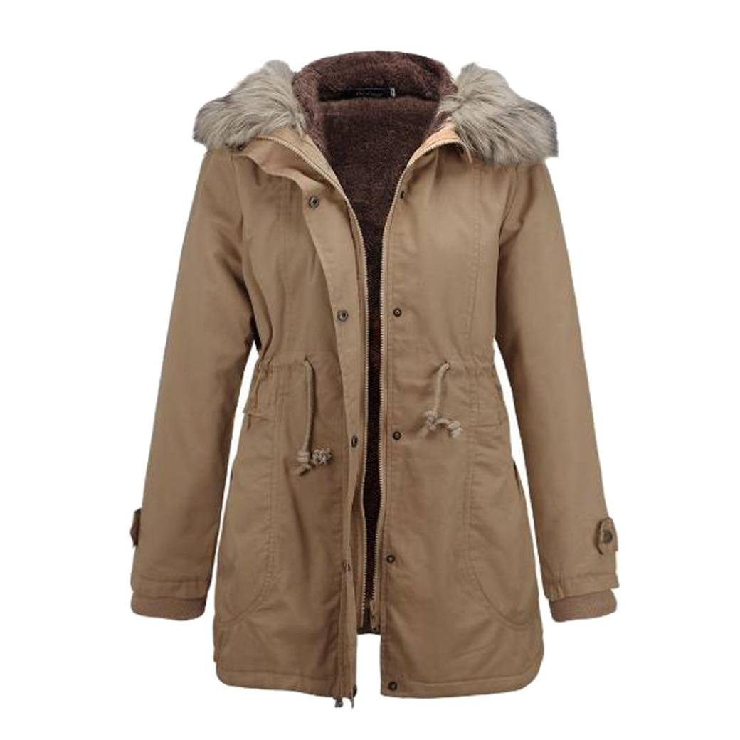 YANG-YI Clearance, Fashion Ladies Womens Jacket Hooded Winter Long Coat Solid Blouse