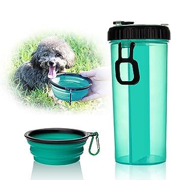 Botella de agua para mascotas, para deportes al aire libre, viajes, alimentación,