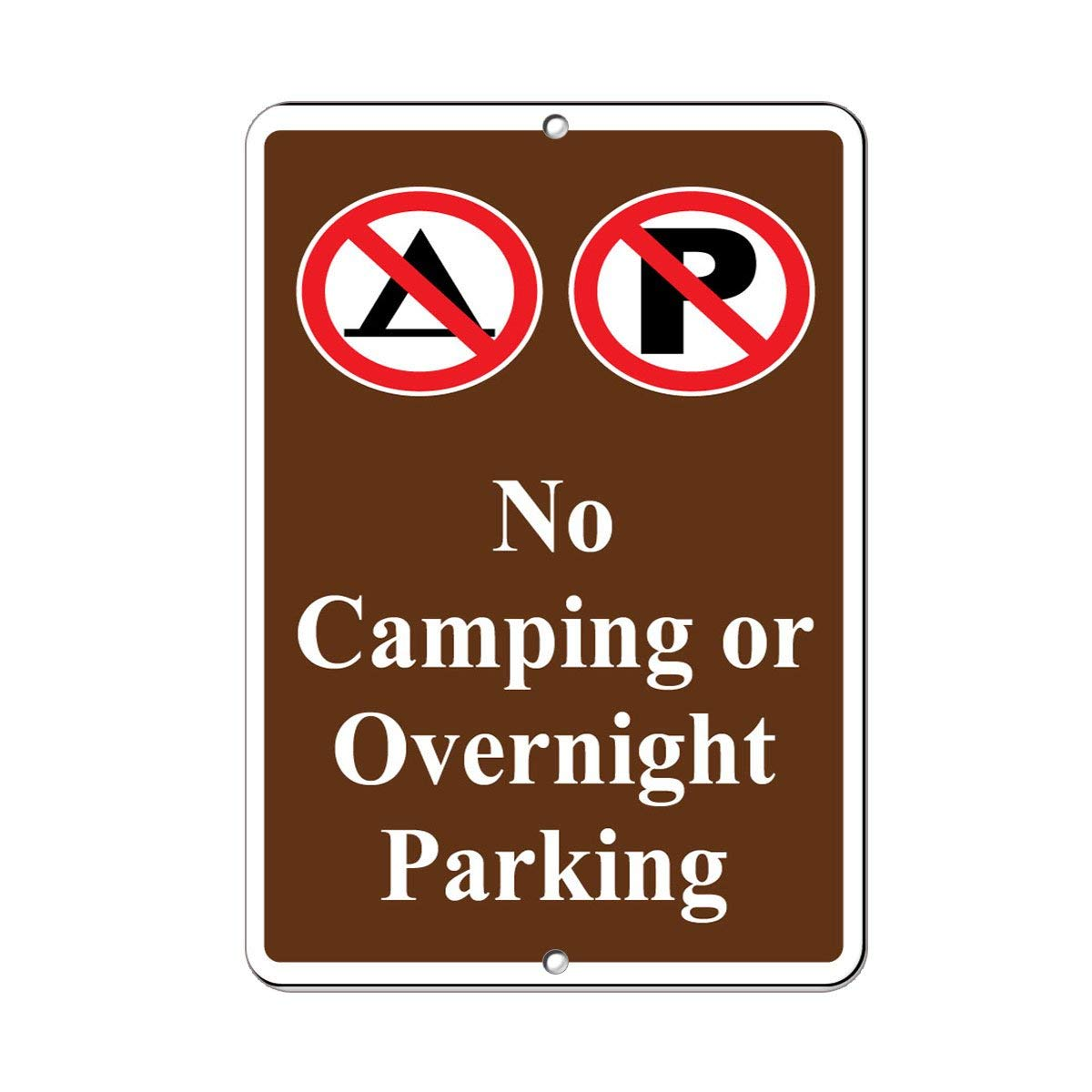 Fhdang Decor No Camping Or Overnight Parking Parking Sign Aluminum METAL Sign,6x9 Inches