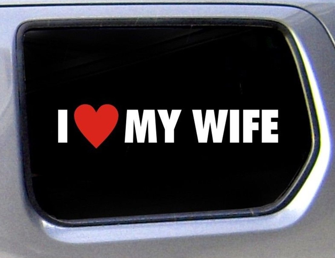 Amazon com 1 pcs perfect popular funny i love my wife car stickers vinyl decal windows graphic joke decor size 1 6 x 8