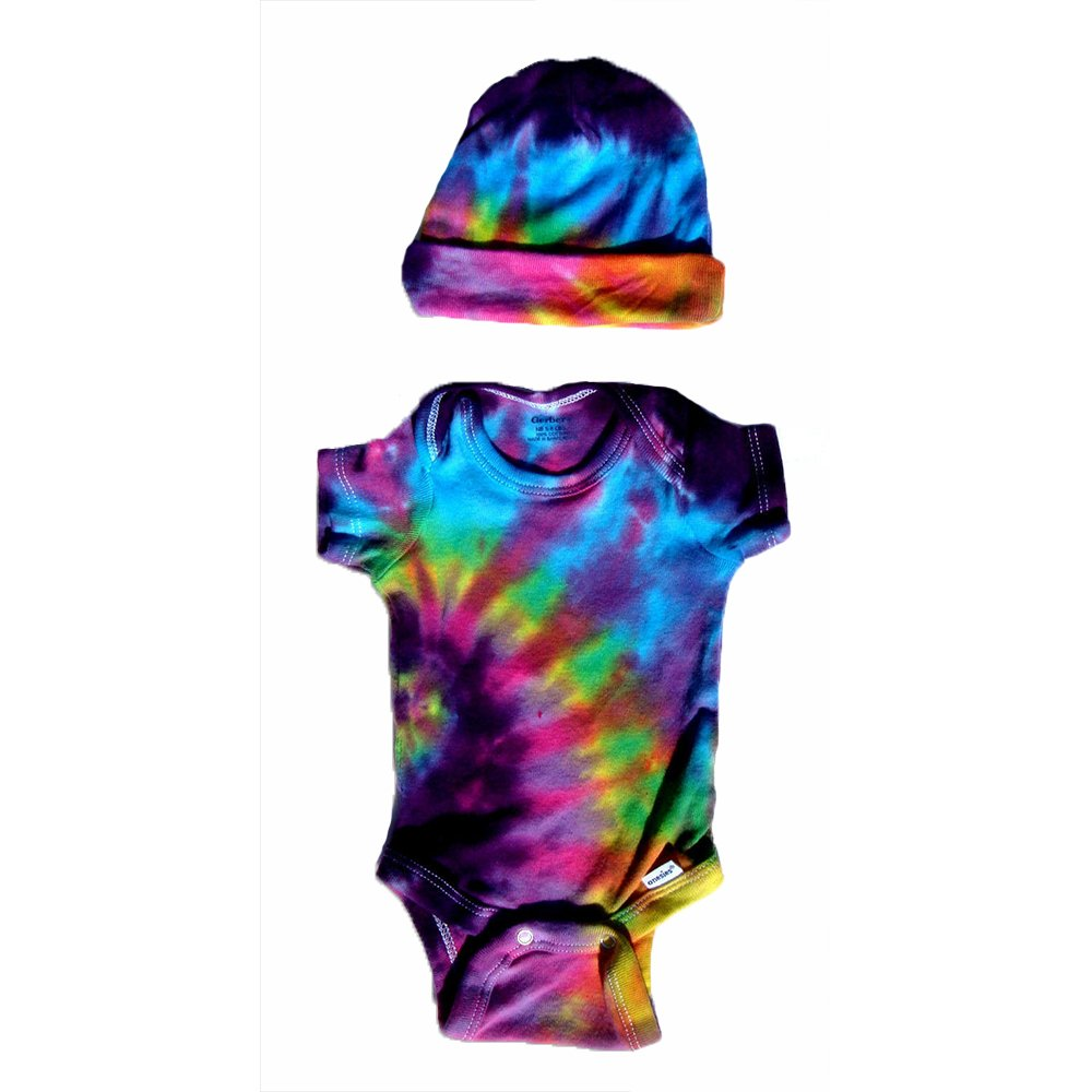 5de19454b Amazon.com: BMD -Pink/Multi Color Gerber Tie Dye Infant Onesie Set by Blue  Mountain Dyes, Newborn to 24 Months (X-Small 0-3): Clothing