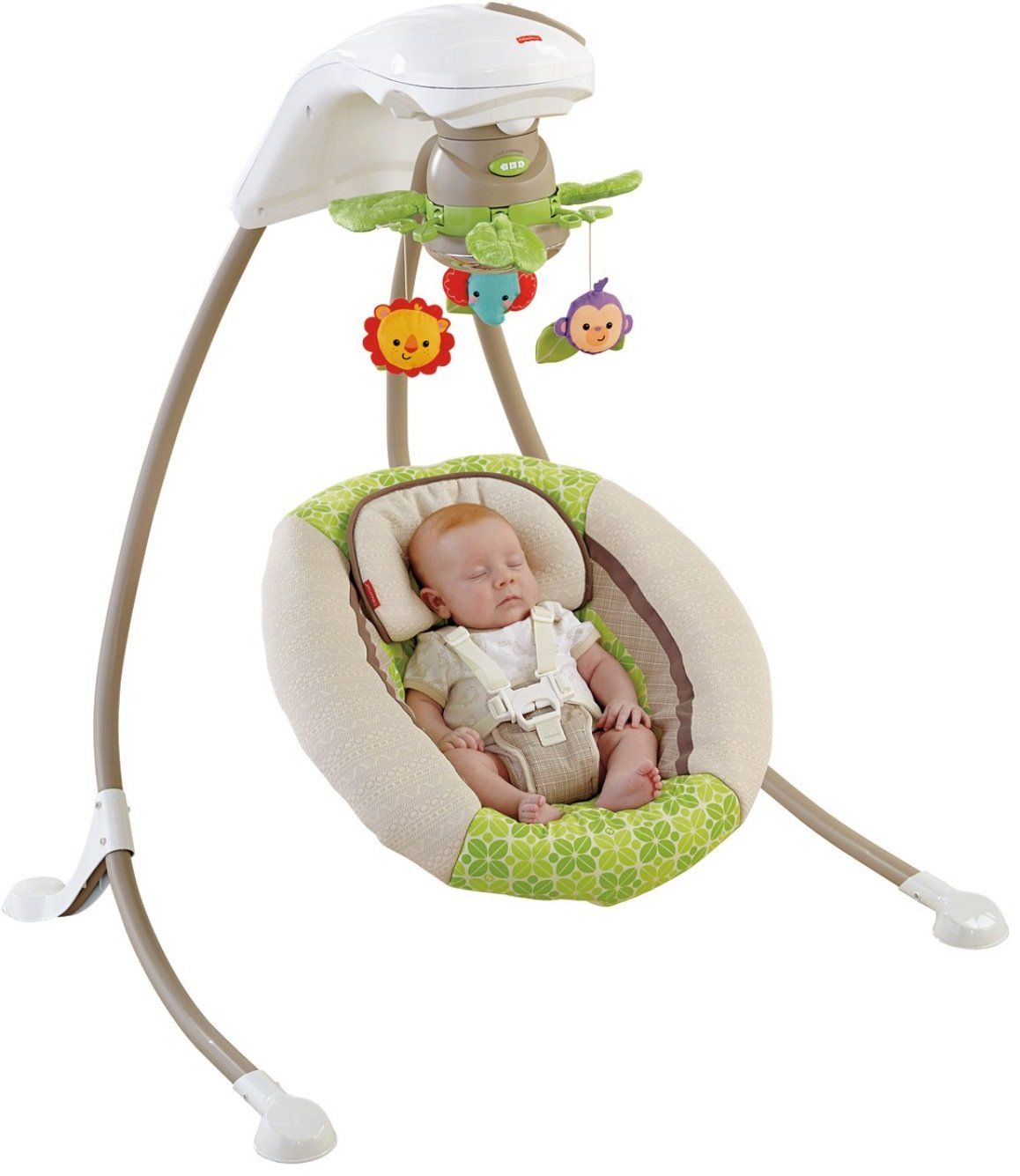 Amazon.com : Fisher-Price Rainforest Friends Deluxe Cradle 'n Swing :  Stationary Baby Swings : Baby
