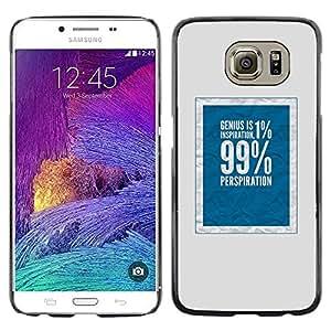 Caucho caso de Shell duro de la cubierta de accesorios de protección BY RAYDREAMMM - Samsung Galaxy S6 SM-G920 - 99 Rich Social Justice Blue