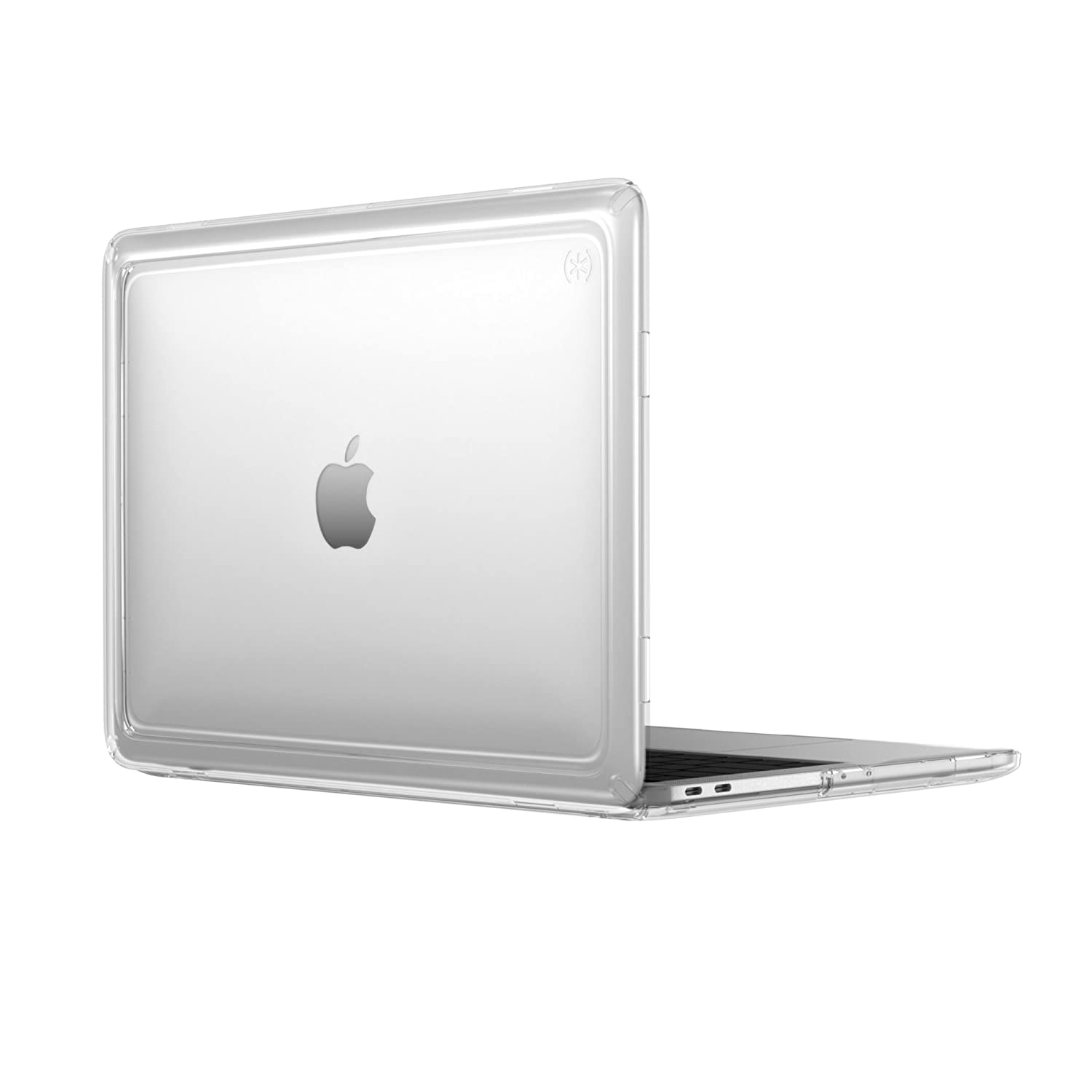 "Speck 13"" Macbook Pro w/without Touch Bar Presidio Clear Case, IMPACTIUM 4-Foot Drop Protected Macbook Case that Resists UV Yellowing with On-The-Go Protection, Clear"