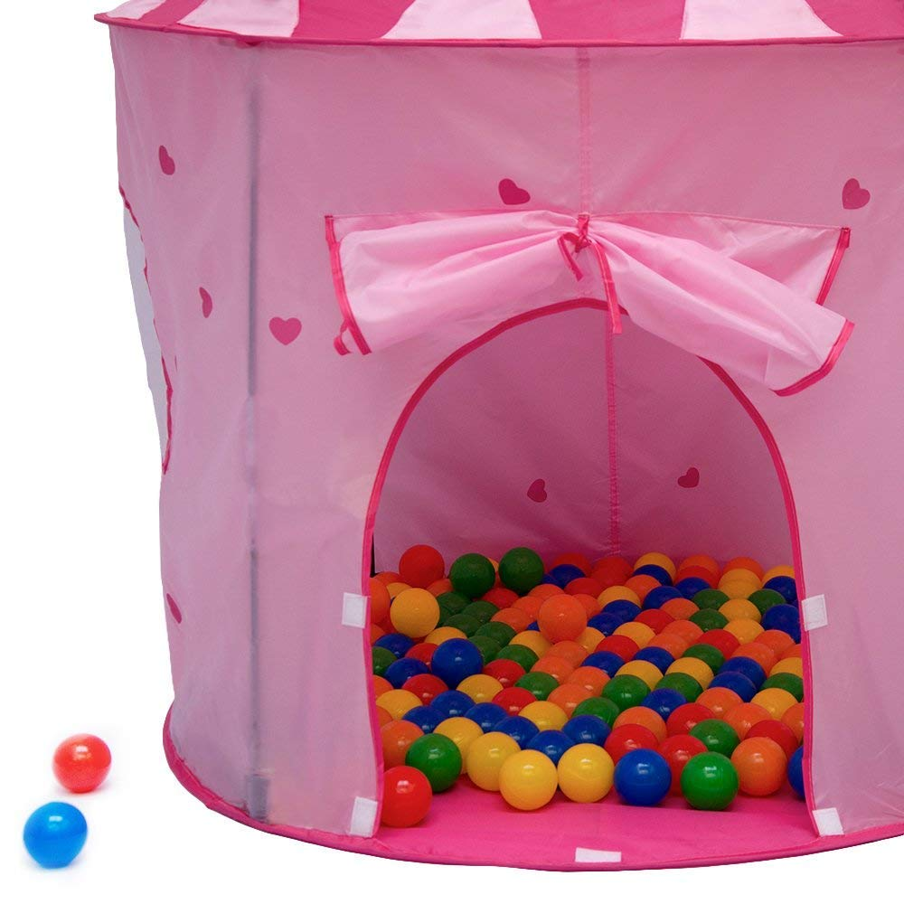 LittleTom Tienda de campaña Juguete para niña 100x100x135cm Piscina de Bolas Rosa