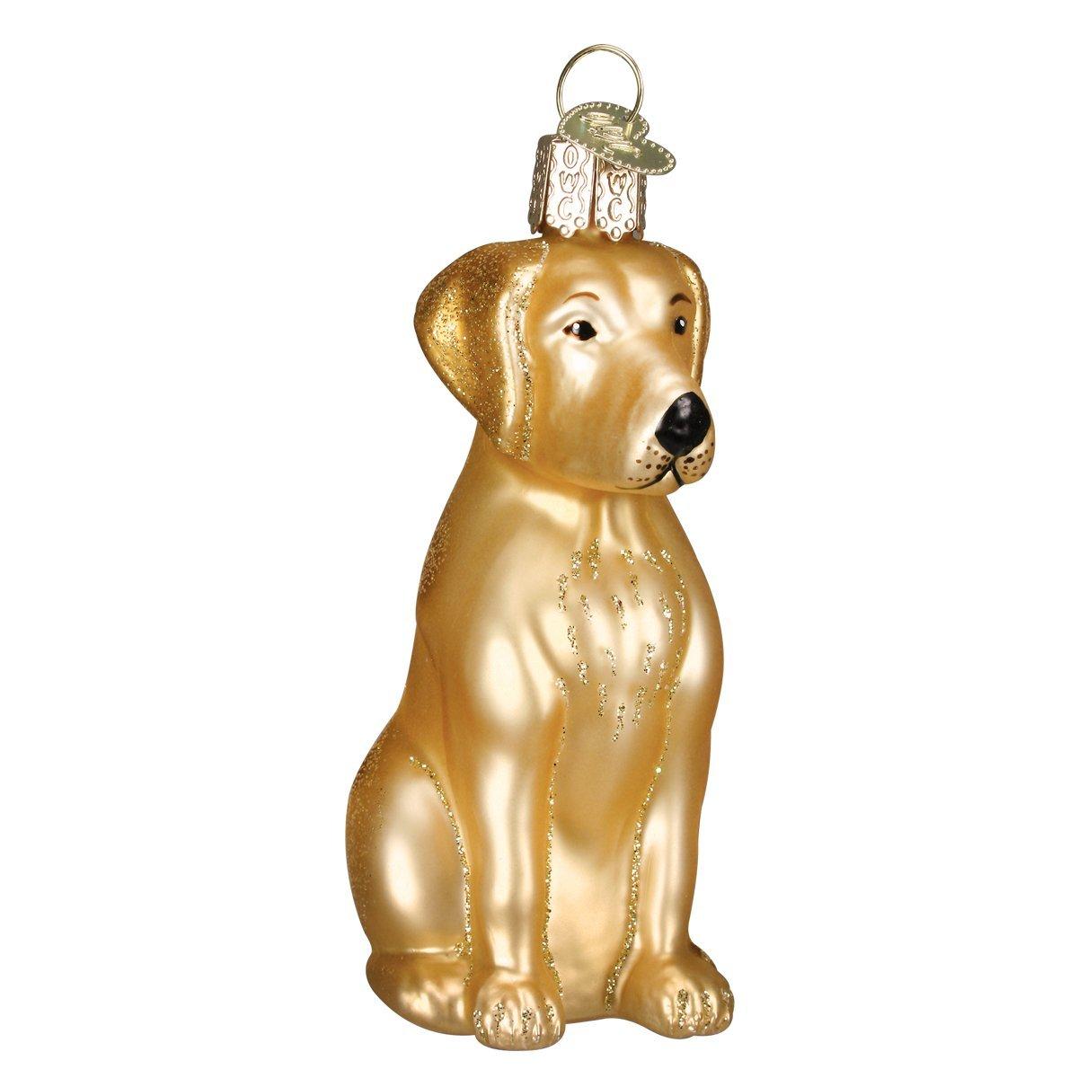 Old World Christmas Yellow Labrador Glass Blown Ornament