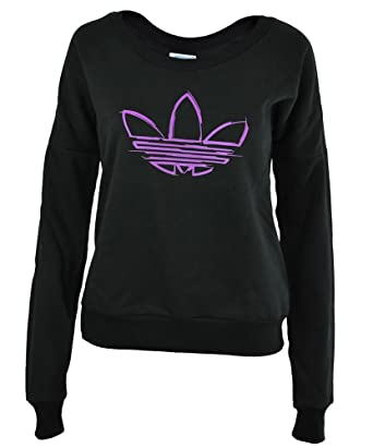 adidas Crew Neck Womens Damen Originals Trefoil Sweatshirt