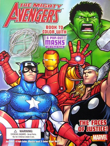 Bendon Publishing The Faces of Justice, The Mighty Avengers Coloring Book with Masks