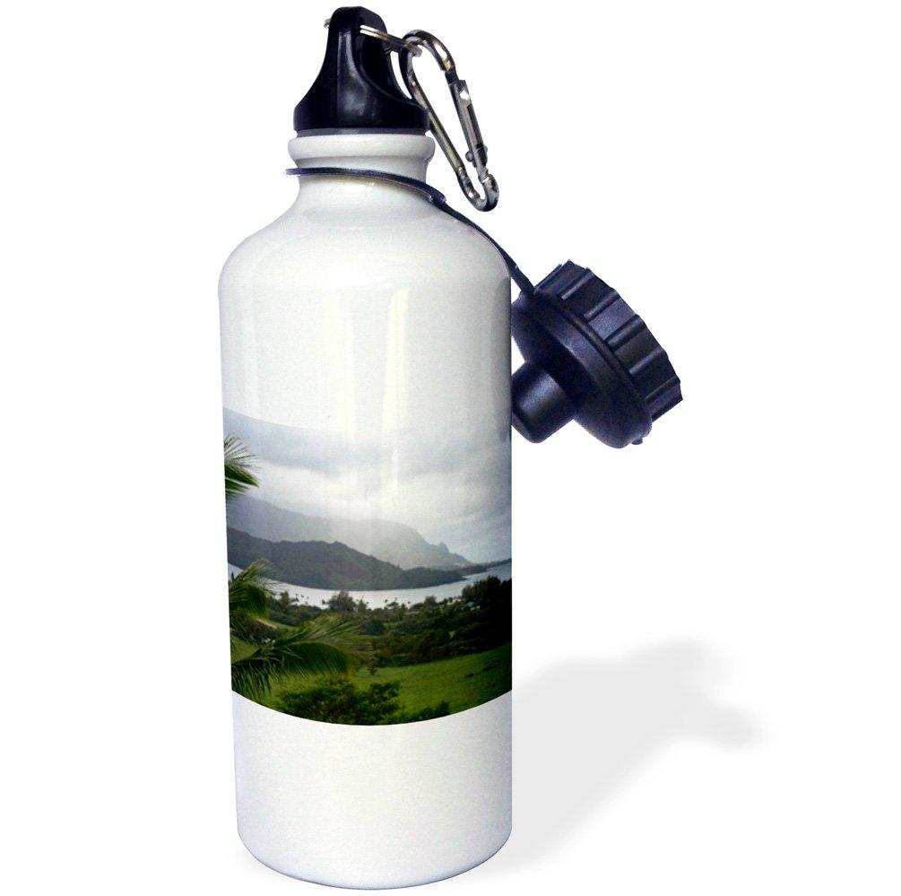 Hawaii 21 oz Kauai island Frazier Sports Water Bottle 3dRose wb/_143906/_1Hanalei Bay USA-US12 DFR0130-David R White