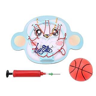 Gioca Basketball Set Animale dei Cartoni Animati Kit Basket Office Desktop Game Sospeso Slam Dunk Gadget Dentro Fuori per Amanti Pallacanestro Ragazzo Ragazza Compleanno Natale Regalo (Monkey)