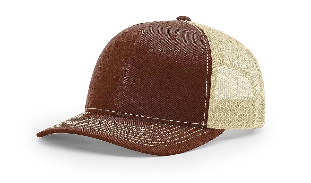 128cdc9bdd6b00 Amazon.com: Richardson Black 112 Mesh Back Trucker Cap Snapback Hat:  Clothing
