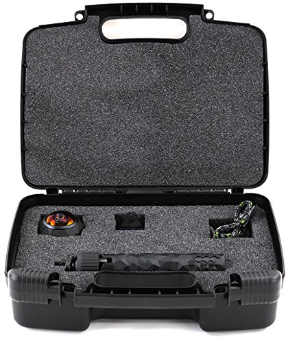 Storage Organizer - Compatible with 360fly 360 4K Video Camera - Durable Carrying Case - Black