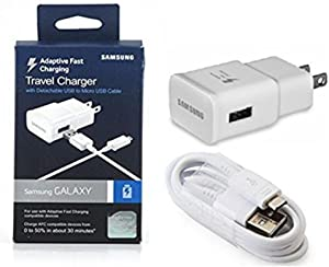 Samsung SAMEP-TA20JWEUSTA OEM Adaptive Fast Charging Wall Charger for Samsung Galaxy S6/Edge-6 - White - Retail Packaging