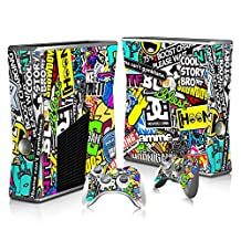BHY Skins Game Decals Vinyl Sticker Decal for Xbox 360 Slim Console and Controllers -no.3819
