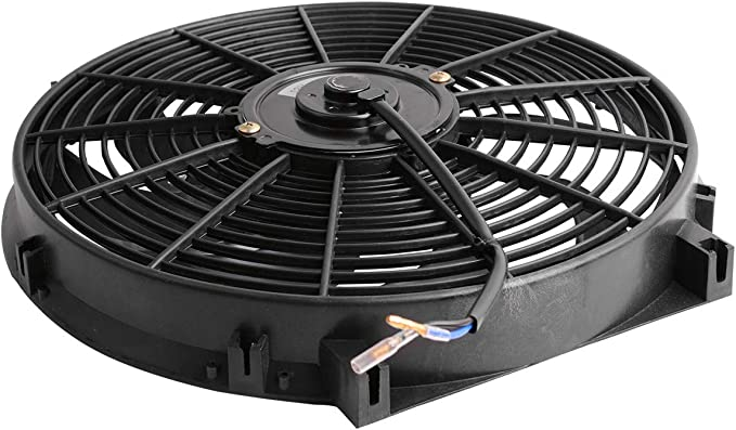 Maxiii 14 Inch Radiator Cooling Fans Universal Pull Push Slim Electric Fan 12V 90W 2550CFM with Mount Kit