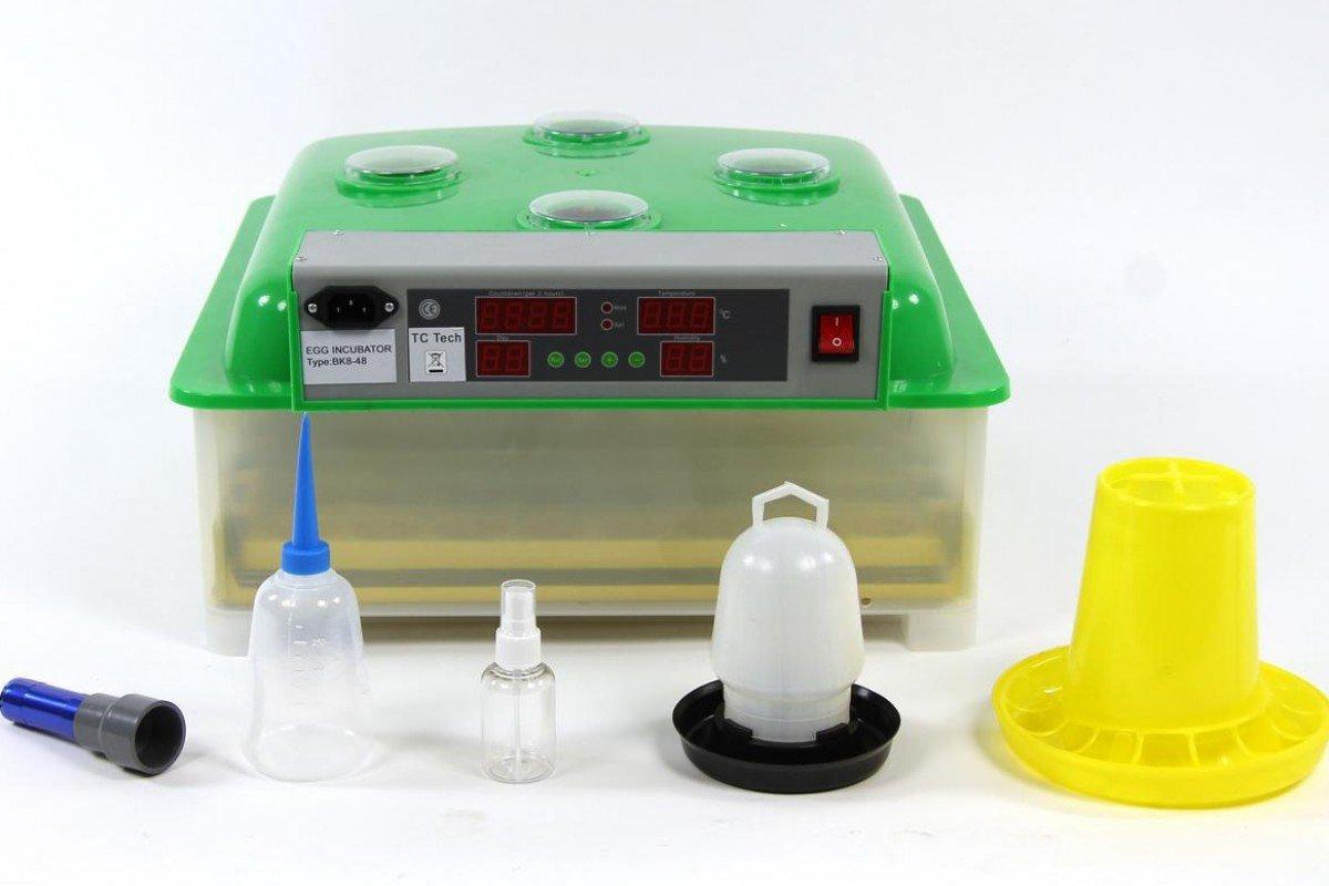 Inkubator VOLLAUTOMATISCH BK48 Modell 2017 + Zubehör, neue Generation, 48 Eier, Brutautomat, Brutmaschine