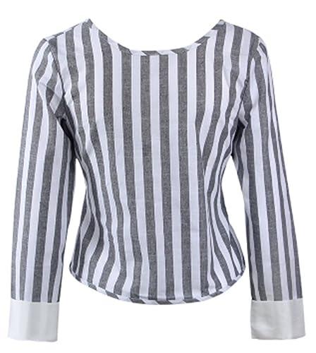 Mujeres Camiseta Con Manga Larga Cuello Redondo Camisa Blouses T Shirt Pullover Sudadera