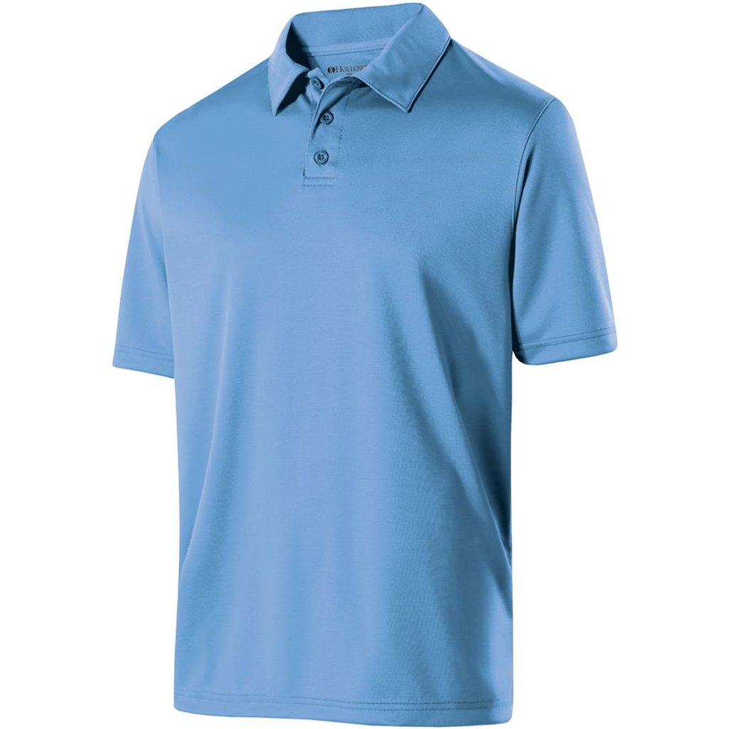 Holloway Mens Dry Excel Shift Polo (X-Large, University Blue) by Holloway