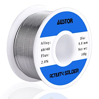 AUSTOR 60-40 Tin Lead Rosin Core Solder Wire for Electrical Soldering (100g, 0.8mm): Industrial & Scientific