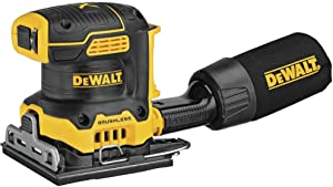 DEWALT 20V MAX XR Palm Sander, Sheet, Variable Speed, 1/4-Inch, Tool Only (DCW200B)