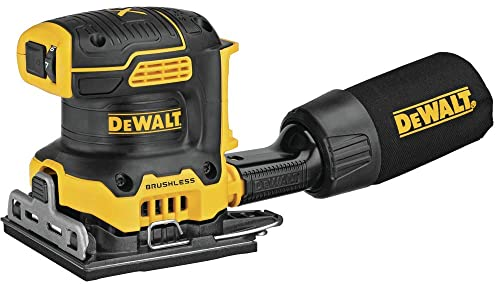 DEWALT DCW200B 20V MAX XR Brushless Cordless 1 4 Sheet Variable Speed Sander Tool Only