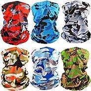 Antony - Pañuelo de verano para el cuello, protección UV, 6 unidades, transpirable, resistente al viento, para