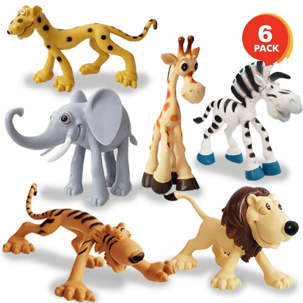 Metro Toy'S & Gift Jungle Cartoon Animal Toys Figure Playing Set For Kids