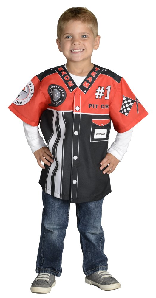 Aeromax My 1st Career Gear Racing Pit Crew, Easy to put on shirt fits most ages 3 to 6