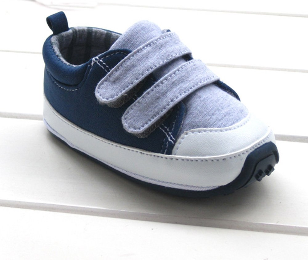 Kuner Baby Boys Girls Cotton Rubber Sloe Outdoor Sneaker First Walkers Shoes (13.5cm(12-18months)) Grey by Kuner