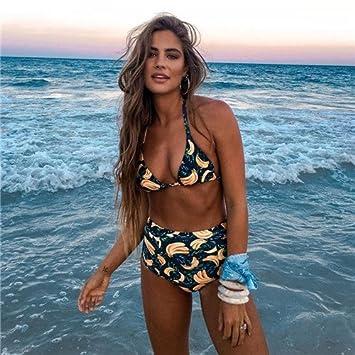 venta barata ee. profesional mejor calificado calidad perfecta Plus Size 2018 Bikini Bañadores Bañador Cintura Alta Mujer ...