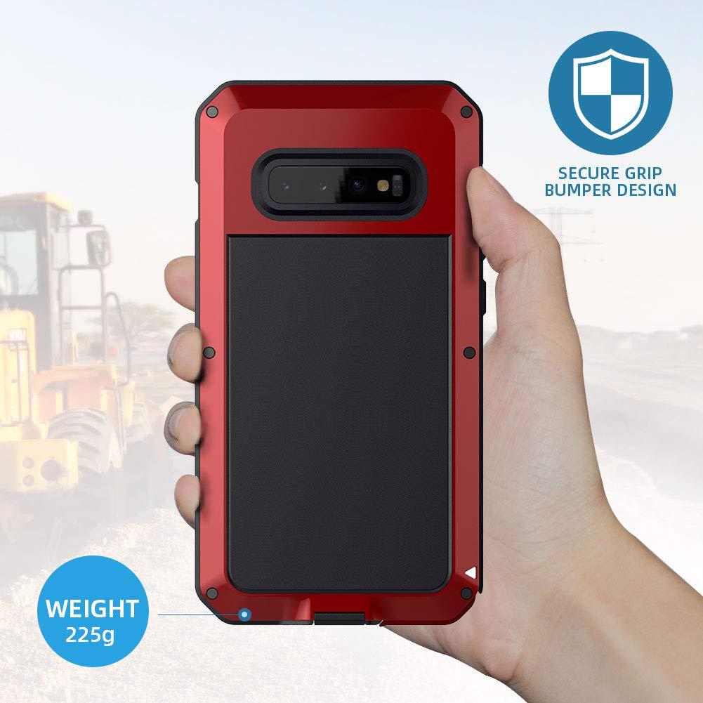 Beeasy Coque Samsung S10,Antichoc Robuste Outdoor Antipoussi/ère Anti-Choc Housse Galaxy S10 2019 Protection dArmure Lourde /Étui Rigide en M/étal R/ésistant Aux Chocs,Noir