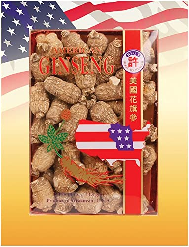 HSU s Ginseng SKU 113-4 Short Medium Small Cultivated American Ginseng from Marathon Co, Wisconsin USA 4oz Box, , B0054ELDEY