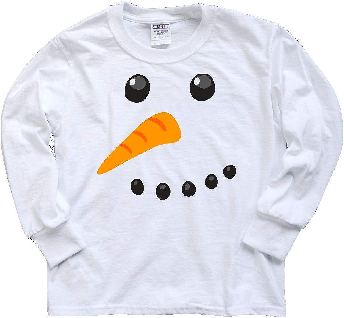 Boys Personalised Christmas Snowman Cotton T-Shirt Age 3-4 Dark Grey