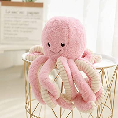 NMFIN Octopus Plush Doll Stuffed Soft Toy Animal Simulation Octopus Education Play Toys Ocean Animals Plush Pillow for Kids Girl Boy Birthday Xmas Gift Present-Pink: Kitchen & Dining