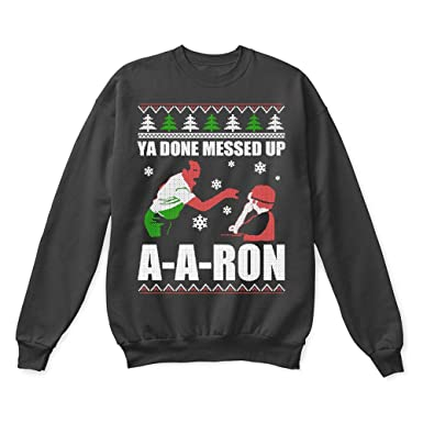 dacbfe7c Amazon.com: Key and Peele Substitute Teacher Ya Done Messed Up A-Aron Ugly  Sweater: Clothing