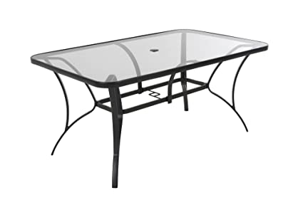ced380e229e2 Image Unavailable. Image not available for. Color: Cosco Outdoor Living  88646GLGE Paloma Patio Tempered Glass Top Dining Table ...