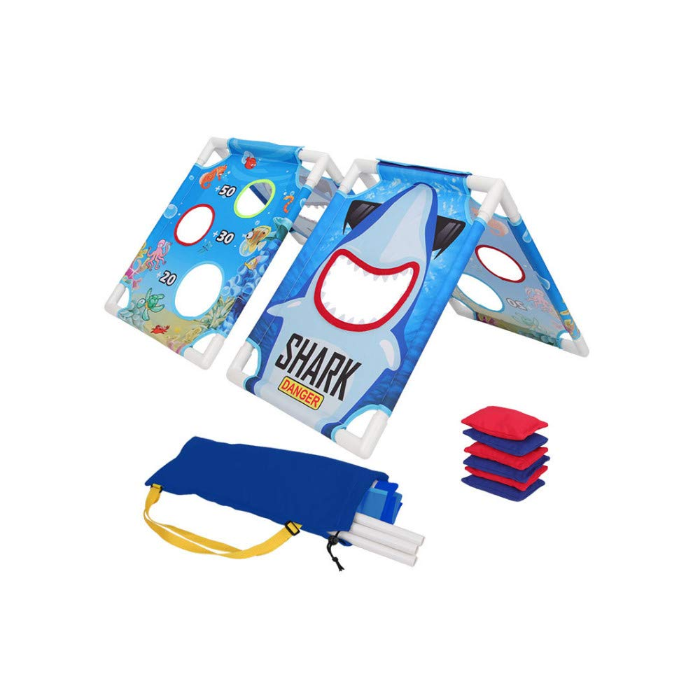 iYBWZH Classic Cornhole Game Set Multicolor Includes 6 Bean Bags and Handbag Travel Case Game Rules Foldable